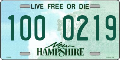NH license plate 1000219