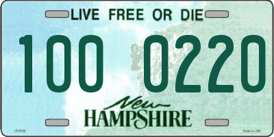 NH license plate 1000220