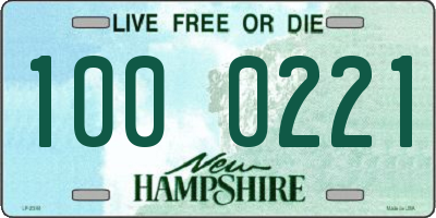 NH license plate 1000221