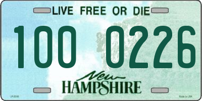 NH license plate 1000226