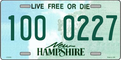 NH license plate 1000227