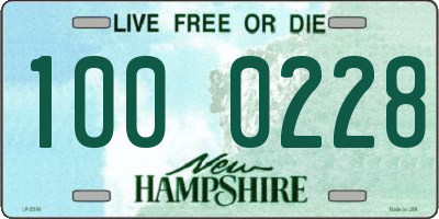 NH license plate 1000228