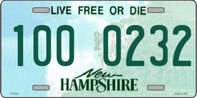 NH license plate 1000232