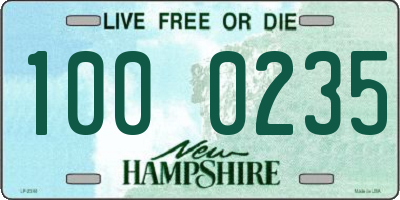 NH license plate 1000235