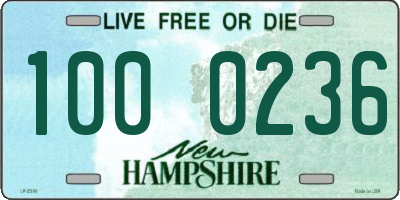 NH license plate 1000236