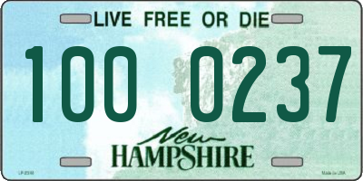 NH license plate 1000237
