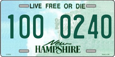 NH license plate 1000240