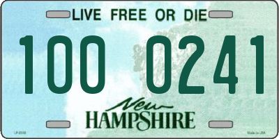 NH license plate 1000241