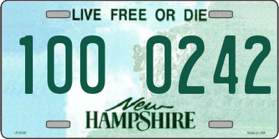 NH license plate 1000242