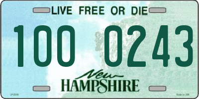 NH license plate 1000243