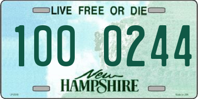 NH license plate 1000244