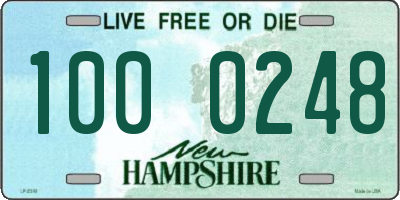 NH license plate 1000248
