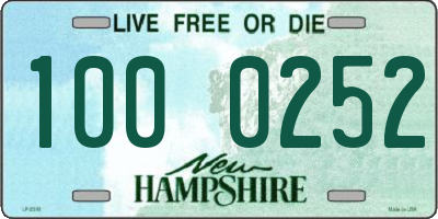 NH license plate 1000252
