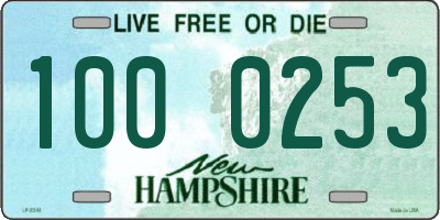 NH license plate 1000253