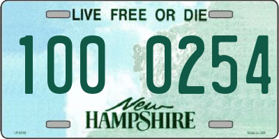 NH license plate 1000254