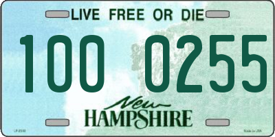 NH license plate 1000255