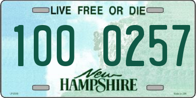 NH license plate 1000257