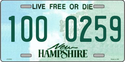 NH license plate 1000259