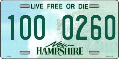 NH license plate 1000260