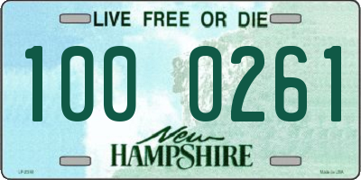 NH license plate 1000261