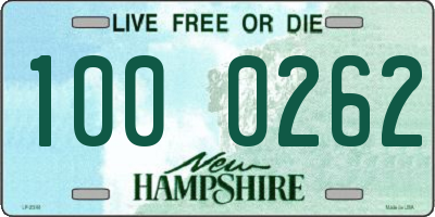 NH license plate 1000262