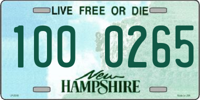 NH license plate 1000265