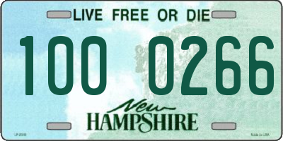 NH license plate 1000266