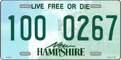 NH license plate 1000267