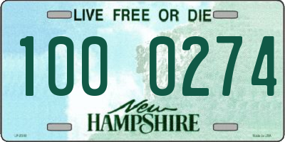 NH license plate 1000274