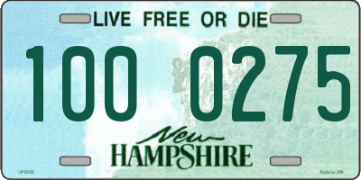 NH license plate 1000275
