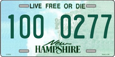 NH license plate 1000277