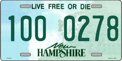 NH license plate 1000278