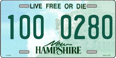 NH license plate 1000280