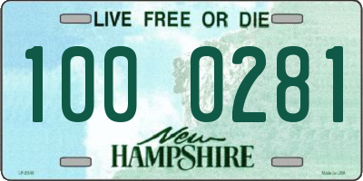 NH license plate 1000281
