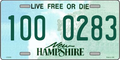 NH license plate 1000283