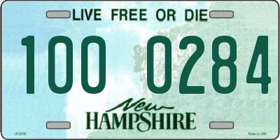 NH license plate 1000284