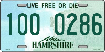 NH license plate 1000286