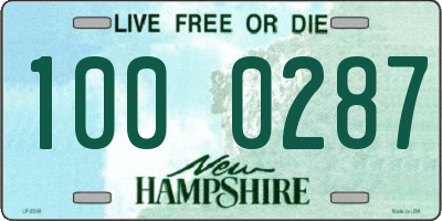 NH license plate 1000287