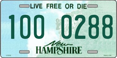 NH license plate 1000288