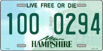 NH license plate 1000294