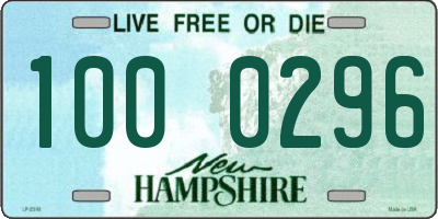 NH license plate 1000296