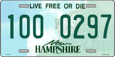 NH license plate 1000297