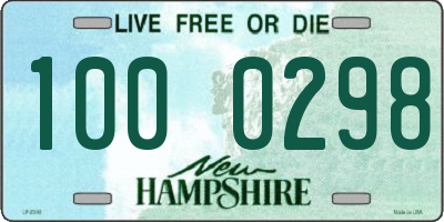 NH license plate 1000298