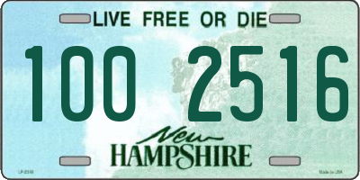 NH license plate 1002516