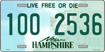 NH license plate 1002536