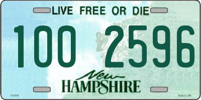 NH license plate 1002596