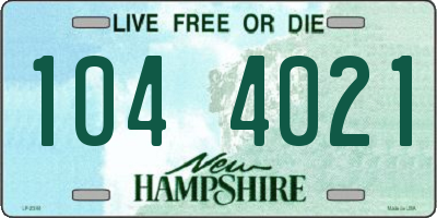 NH license plate 1044021