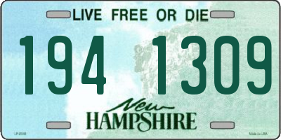 NH license plate 1941309