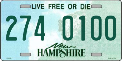 NH license plate 2740100