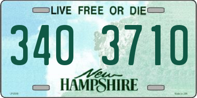 NH license plate 3403710